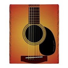 acousticguitar-cherrysunburst_FPprin Throw Blanket