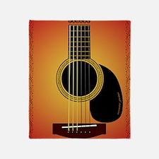 acousticguitar-cherrysunburst_FPprin Throw Blanket