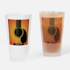 acousticguitar-cherrysunburst_FPpri Drinking Glass