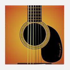 acousticguitar-cherrysunburst_FPprint Tile Coaster