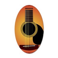 acousticguitar-cherrysunburs 35x21 Oval Wall Decal