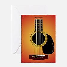 acousticguitar-cherrysunburst_FPprin Greeting Card