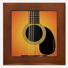 acousticguitar-cherrysunburst_FPprint_ Framed Tile