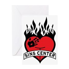 Sins Center Greeting Card