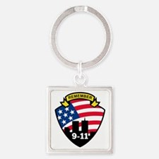 9-11 Square Keychain