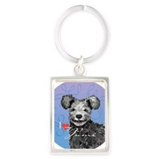 pumi-button Portrait Keychain