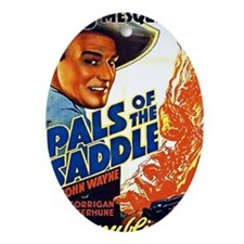Pals of the Saddle Oval Ornament