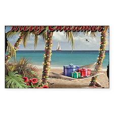 merry christmas beach Decal