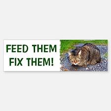 Feed/Fix with Feral Cat Bumper Bumper Bumper Sticker