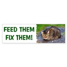 Feed/Fix with Feral Cat Bumper Bumper Sticker