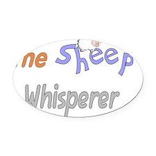 The Sheep Whisperer Oval Car Magnet