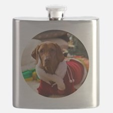 Ornament_Round_Holly_1 Flask