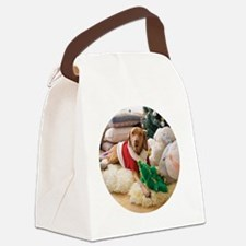 Ornament_Round_Holly_2 Canvas Lunch Bag