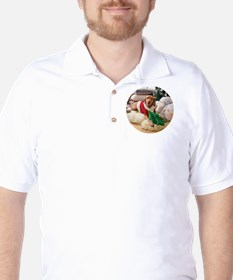 Ornament_Round_Holly_2 Golf Shirt