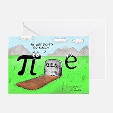 Pi_72 QED Gravestone (5.75x4.5 Color Greeting Card