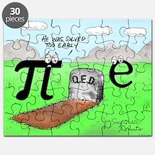 Pi_72 QED Gravestone (10x10 Color) Puzzle