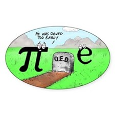 Pi_72 QED Gravestone (10x10 Color) Decal