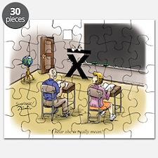 Pi_69 Mean Teacher (5.75x4.5 Color) Puzzle