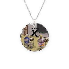Pi_69 Mean Teacher (7.5x5.5  Necklace Circle Charm