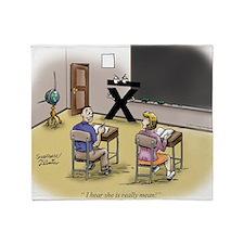 Pi_69 Mean Teacher (7.5x5.5 Color) Throw Blanket