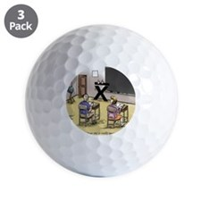 Pi_69 Mean Teacher (20x16 Color) Golf Ball