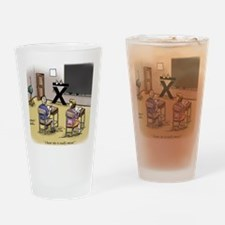 Pi_69 Mean Teacher (20x16 Color) Drinking Glass