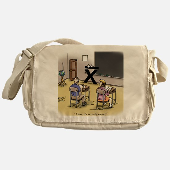Pi_69 Mean Teacher (20x16 Color) Messenger Bag