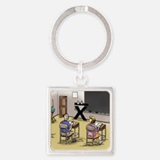 Pi_69 Mean Teacher (20x16 Color) Square Keychain
