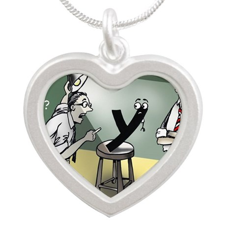 Pi_79 Interrogation (10x10 C Silver Heart Necklace