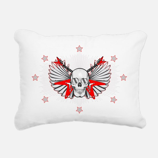 rockwingskull.gif Rectangular Canvas Pillow