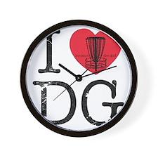 I Heart DG Wall Clock