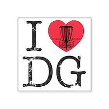 "I Heart DG Square Sticker 3"" x 3"""