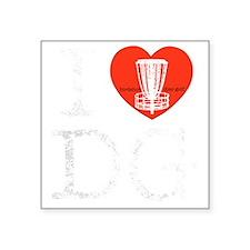 "I Heart DG dark Square Sticker 3"" x 3"""