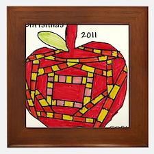 047 Apple Ornament Framed Tile