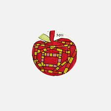 047 Apple Ornament Mini Button