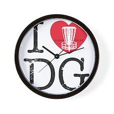 I Heart DG2 Wall Clock