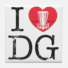 I Heart DG2 Tile Coaster