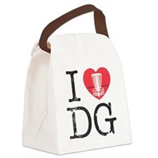 I Heart DG2 Canvas Lunch Bag