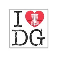 "I Heart DG2 Square Sticker 3"" x 3"""