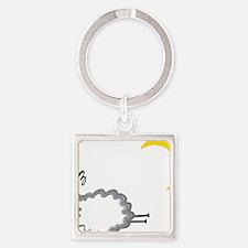 sleepySheepy Square Keychain