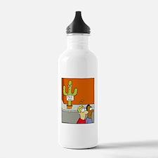 cactus hugs Water Bottle
