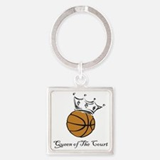 bball queen Square Keychain