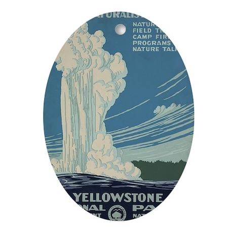yellowstone Oval Ornament