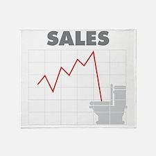 Sales in the Toilet Throw Blanket