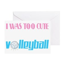 volleyball cute Greeting Card