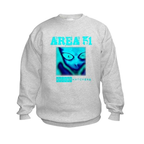 Area 51 Saucer Watchers Kids Sweatshirt
