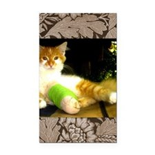 Kitty with a leg cast Rectangle Car Magnet