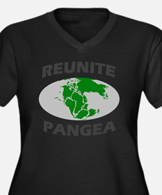 reunitepange Women's Plus Size Dark V-Neck T-Shirt