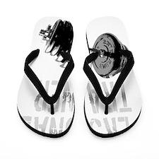 Personal Trainer Weight Training -dark  Flip Flops
