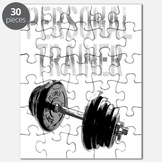 Personal Trainer Weight Training -dark copy Puzzle